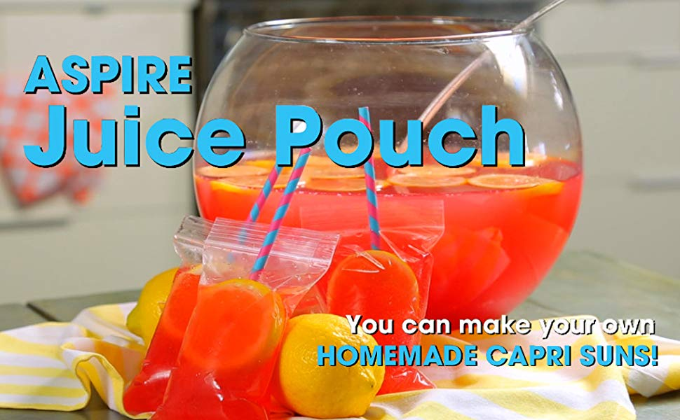 4 Mil 8oz Juice Pouches Bags 13oz 50 PCS Frosted Zip Stand Up Pouch Bags