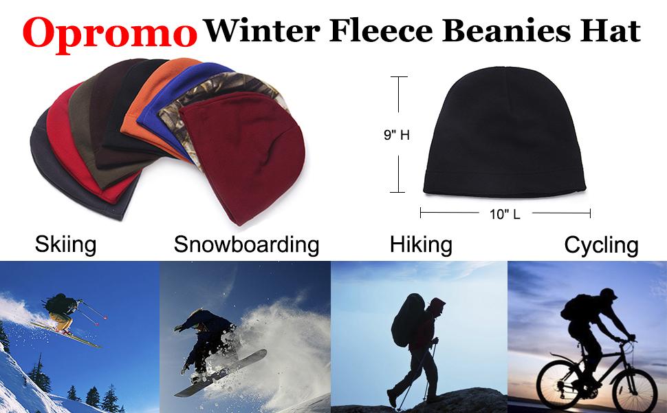 Soft Warm fleece beanie hat