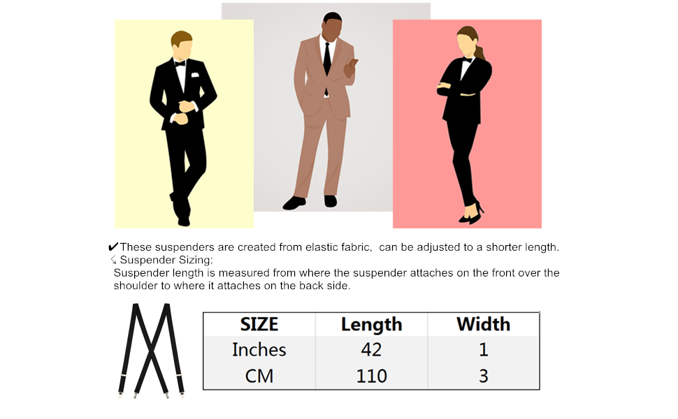 size information of suspender are extendable