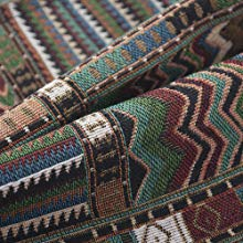 62d370715a14 Knit Drawstring Bag Vintage Woven Sackpack Bohemian Tribal Backpack Canvas  Gymsack