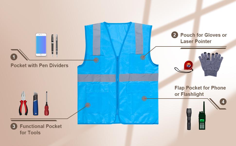 Opentip Pocket Safety Vest - Pocket Detail