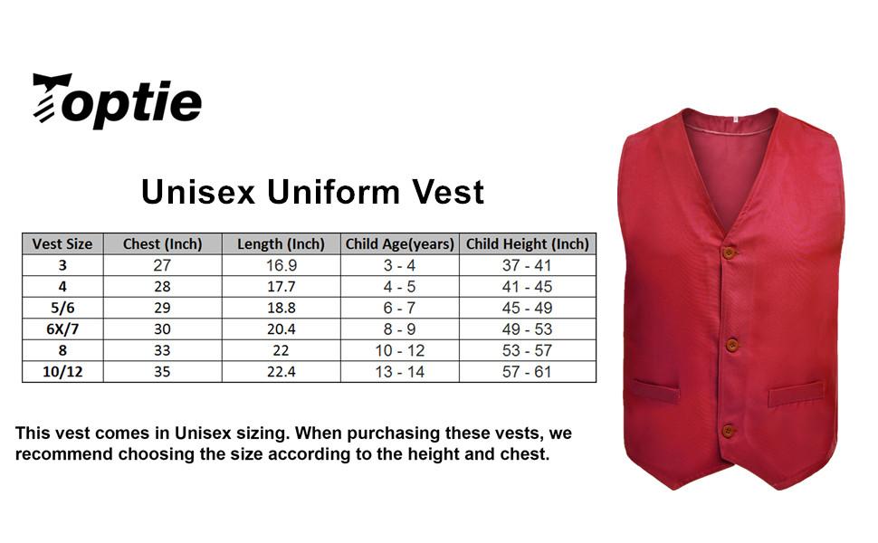 Unisex Uniform Vest