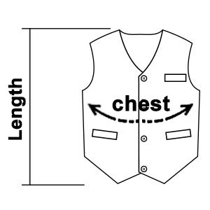 Supermarket Vest Detail - Button