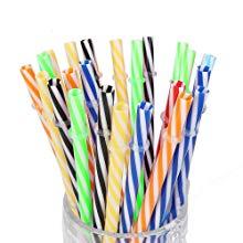 Spiral straws