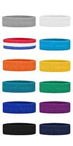 GOGO Thick Solid Color Headbands 6 Pieces Assorted Colors