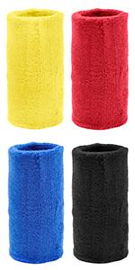 GOGO 6PCS Terry Cloth Wrist Wallets Thick Sweatband Set
