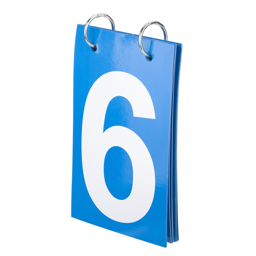 0-9 Double Sides Number Cards GOGO 2 1//2 x 5 Portable Tennis Score Keeper