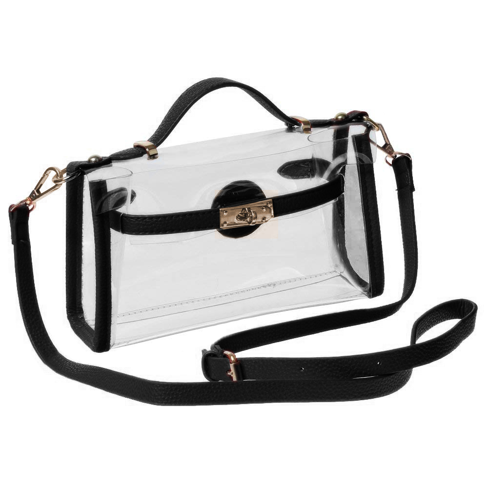 60cc9fca5ccc Opentip.com  GOGO Womens Clear Crossbody Messenger Shoulder Bag With  Adjustable Strap
