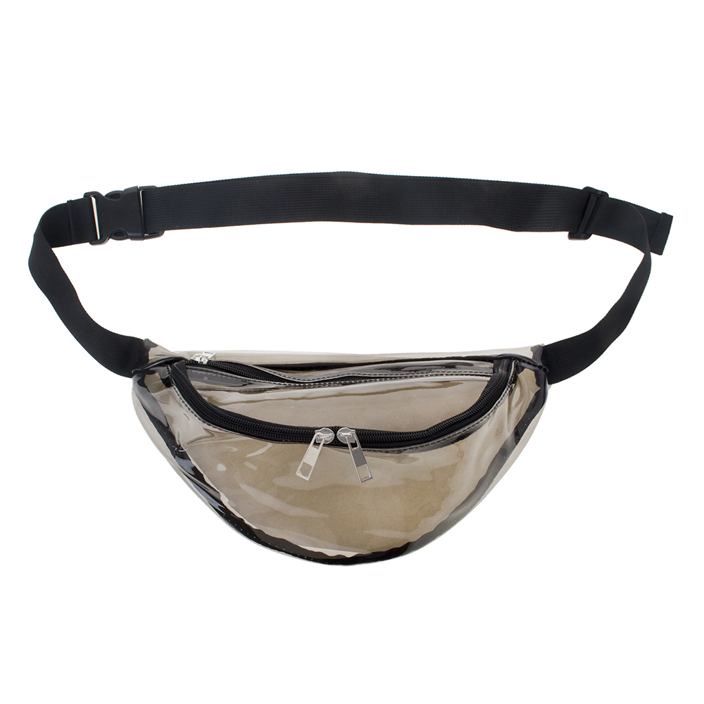 Opromo Clear Transparent Fanny Pack Waist Bag Water-Resistant Beach Travel Purse