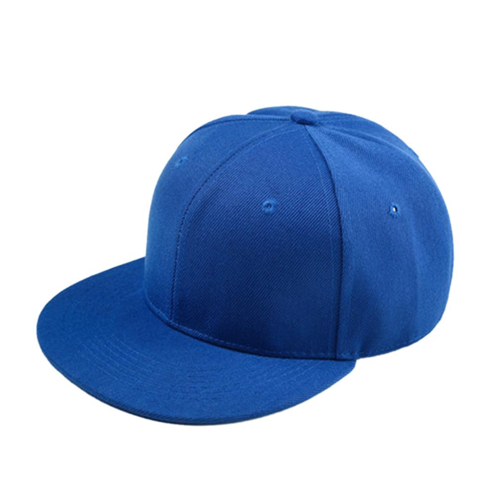 586672f2e16c3 Opentip.com  Opromo Kids Cotton Plain Snapback Baseball Cap Hip-pop Flat  Bill Adjustable Hat