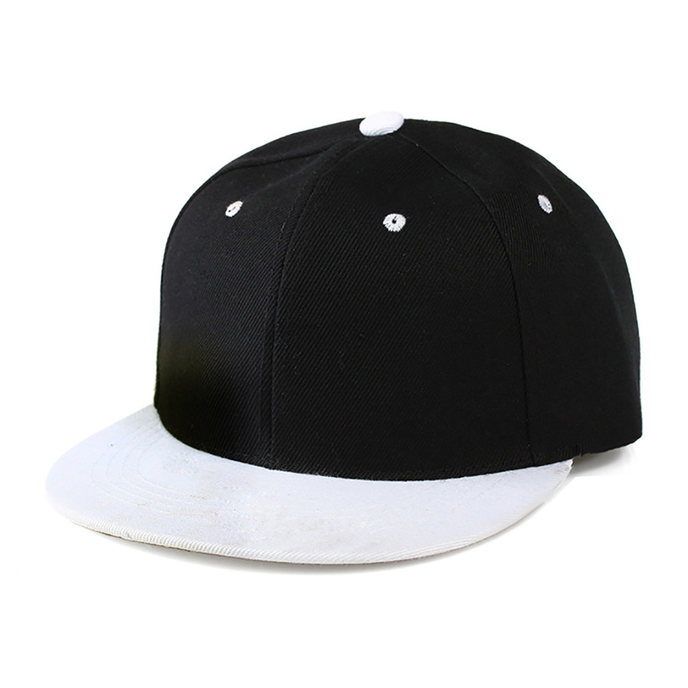 41deb99e9 Opromo Plain Two Tone Flat Bill Snapback Hat Adjustable Hiphop Baseball Cap