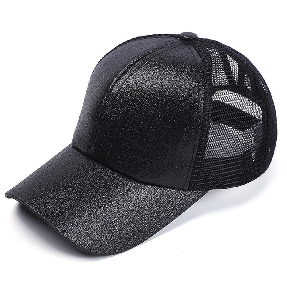 Messy Bun HatSilver Glitter HatTrucker HatPonytail Hat