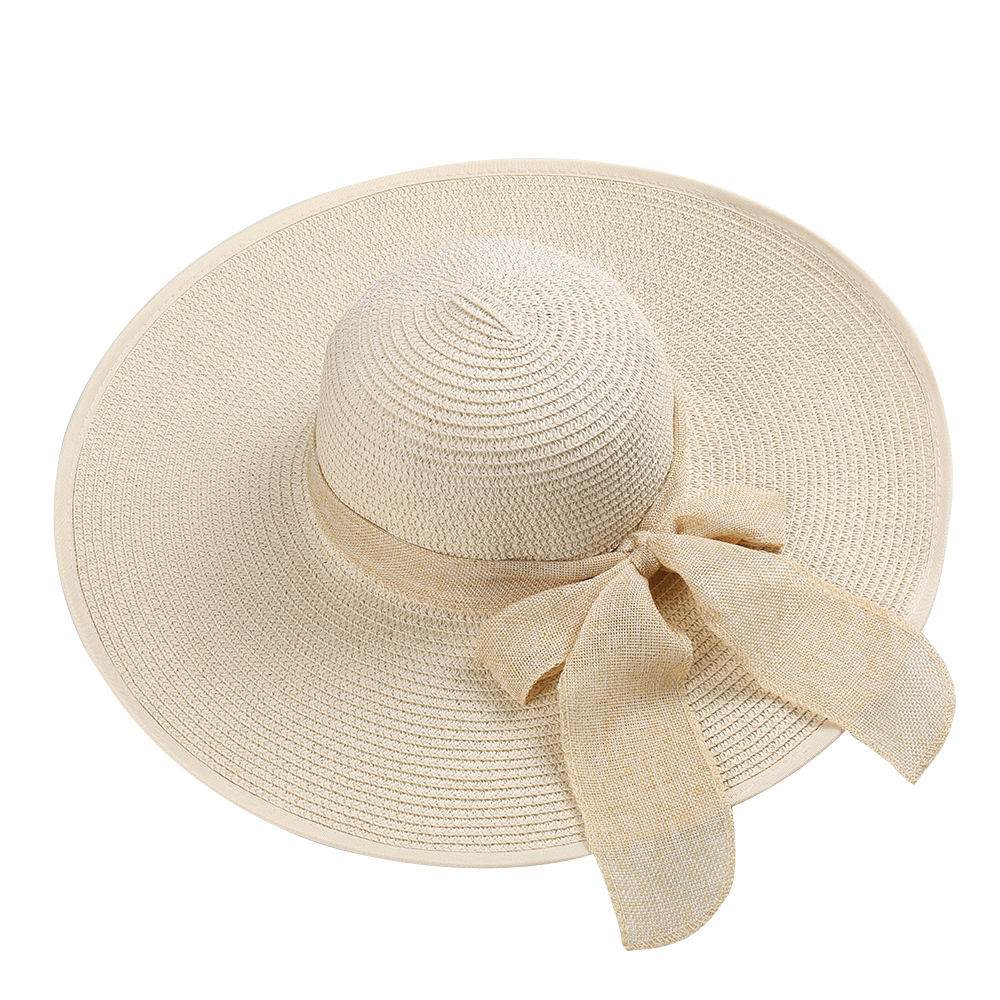87e7ba534c6 Opentip.com  Opromo Foldable Womens Floppy Big Bowknot Straw Hat ...