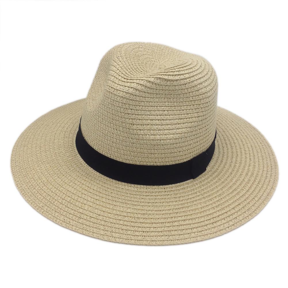 9b6a0d4329da2 Opentip.com  Opromo Havana Hat Mens Womens Straw Sun Hat Panama Fedora  Beach Hat Straw Hat