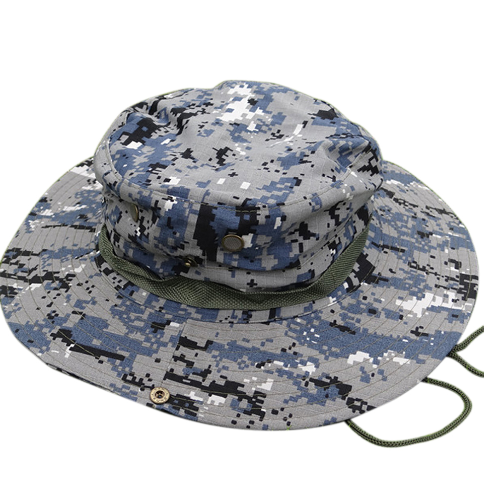 b43a86457d6 Opentip.com  Opromo Outdoor Camouflage Wide Brim Military Bucket Hat Mens  Fishing Bonnie Hats
