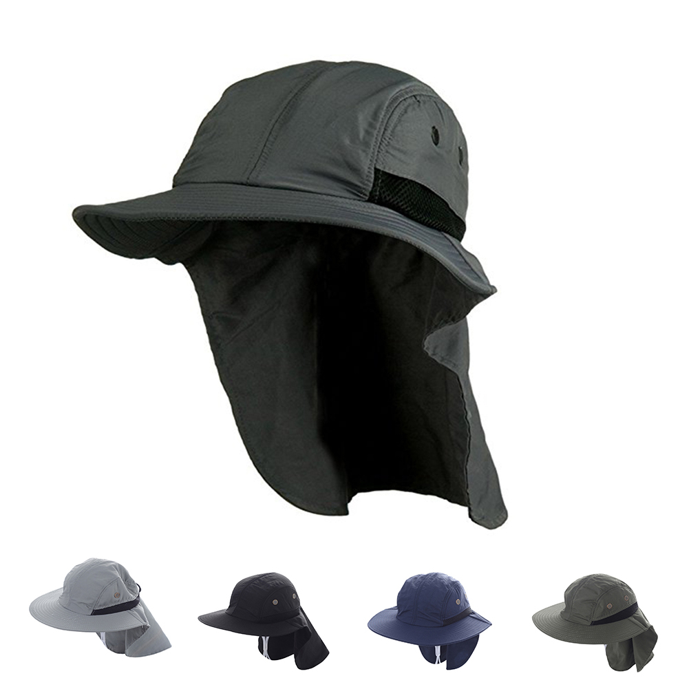 bd743d3ff98 Opentip.com  Opromo Extreme Condition Hat Summer Sun Protection Hat  Outdoors Neck Flap Cap