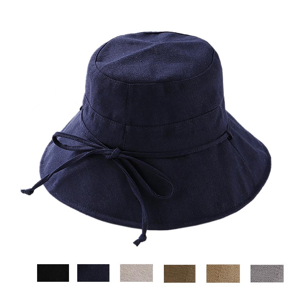 Opentip.com  Opromo Womens Cotton UPF 50+ Bucket Sun Hat Foldable Wide Brim  Summer Beach Hat bd5a8ea03d41