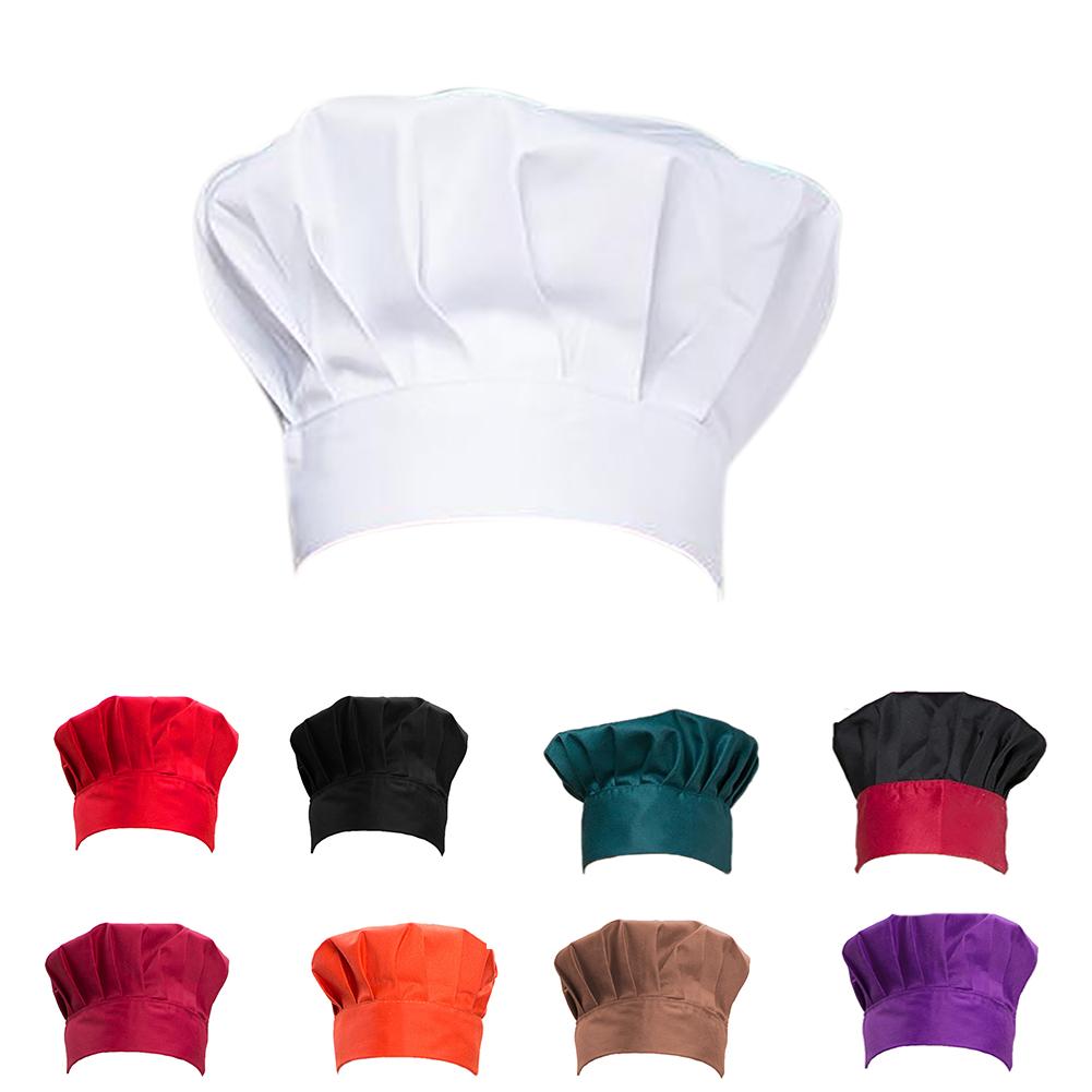 Opromo Chef Works Hat Adult Adjustable Elastic Baker Kitchen Cooking Chef Cap