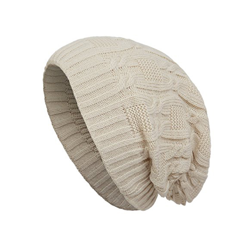 8bddc7c1bf1de Opentip.com  Opromo Unisex Trendy Warm Winter Hat Oversized Chunky Cable  Knit Slouchy Beanie Cap