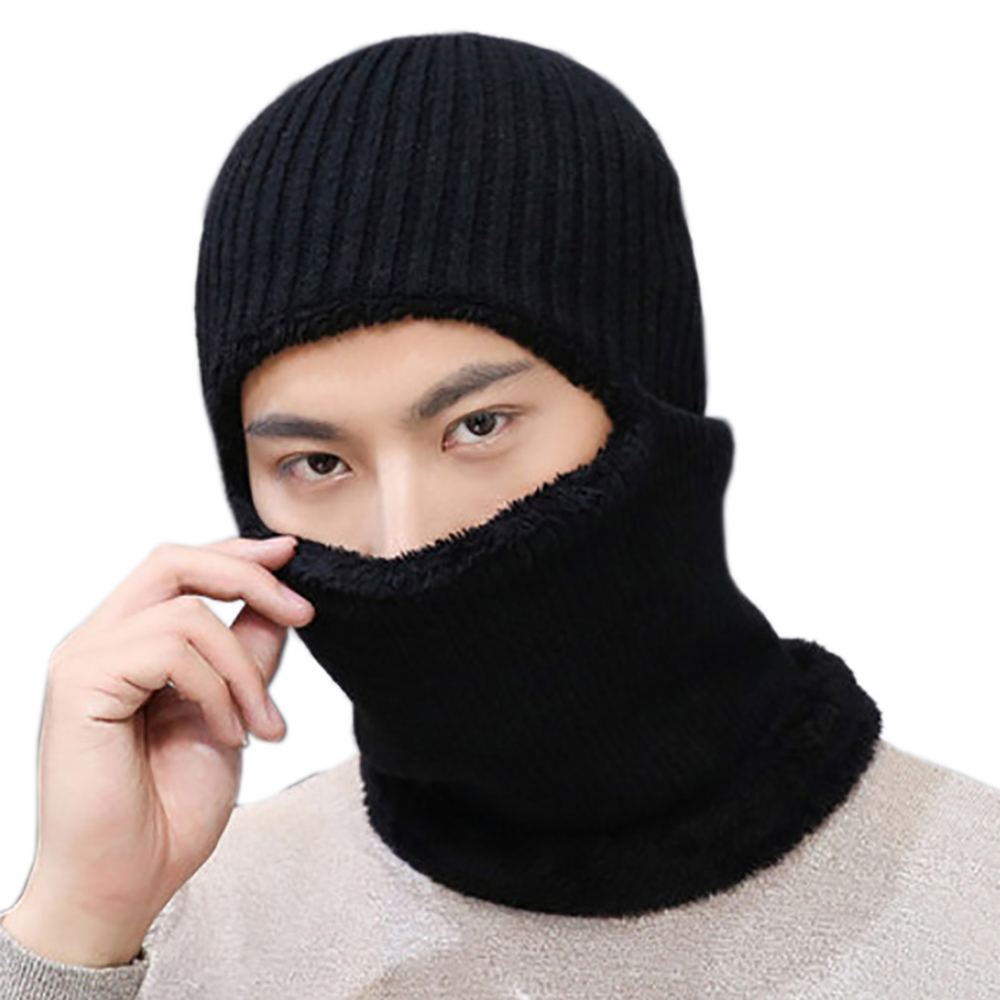 c23d72cb0b73 Opentip.com  Opromo 3-in-1 Windproof Ski Face Mask Knit Winter Hats Warm Balaclava  Beanie Hat