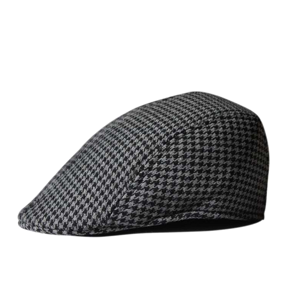 04cb4291300a09 Opentip.com: Opromo Men's Houndstooth Wool Tweed Newsboy Ivy Cabbie Driving  Hat Duckbill Cap, Price/piece