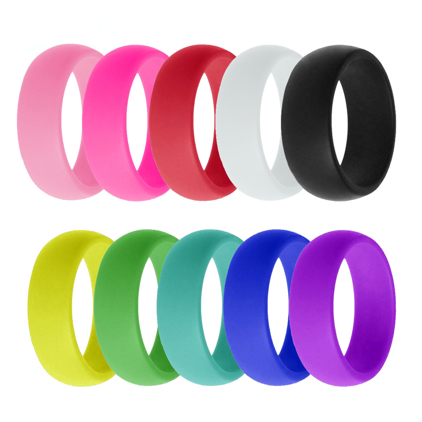 3pcs Silicone Wedding Ring Rubber Band Sport Outdoor Flexible Men Women Gifts