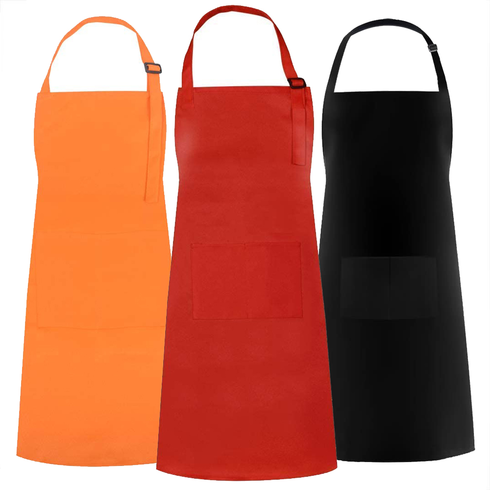 Opromo Cotton Canvas Painting Apron, Cooking Aprons and Chef Hat Set for Kids & Adult