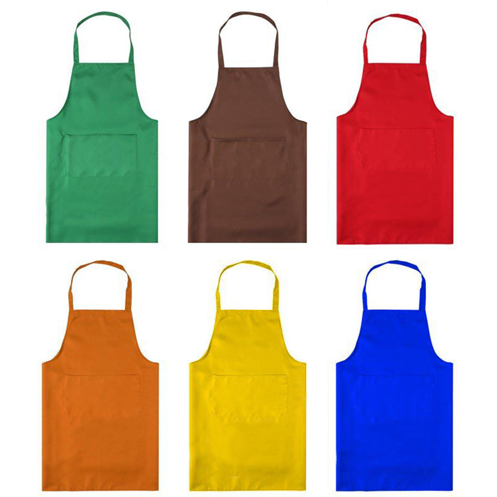 Opromo Women's Kitchens Apron with Two Front Pockets