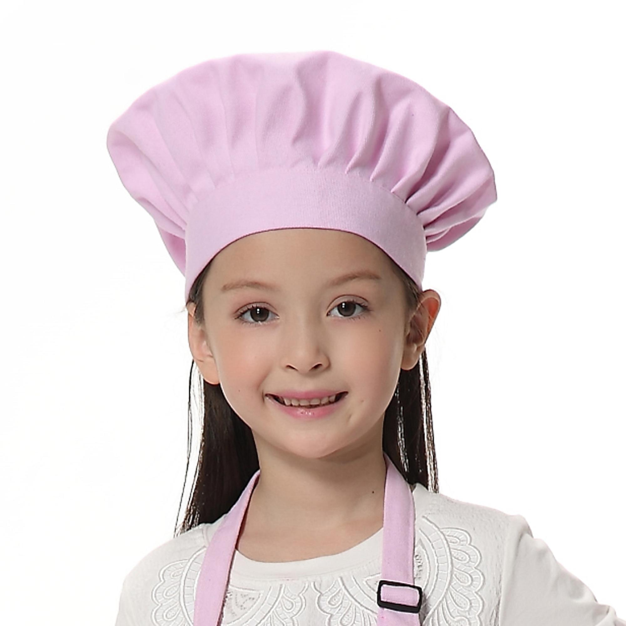 Opromo Child's Chef Hat Kid's Baker Costume Cotton Canvas Mushroom Hat