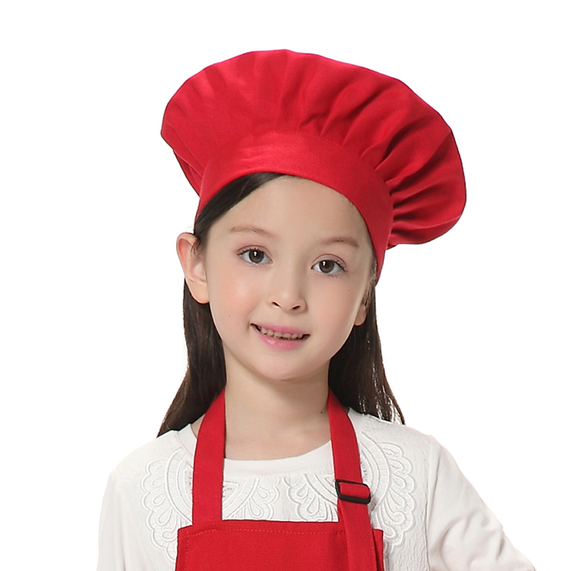 Opromo Child's Chef Hat Kid's Baker Costume Cotton Canvas Mushroom Hat