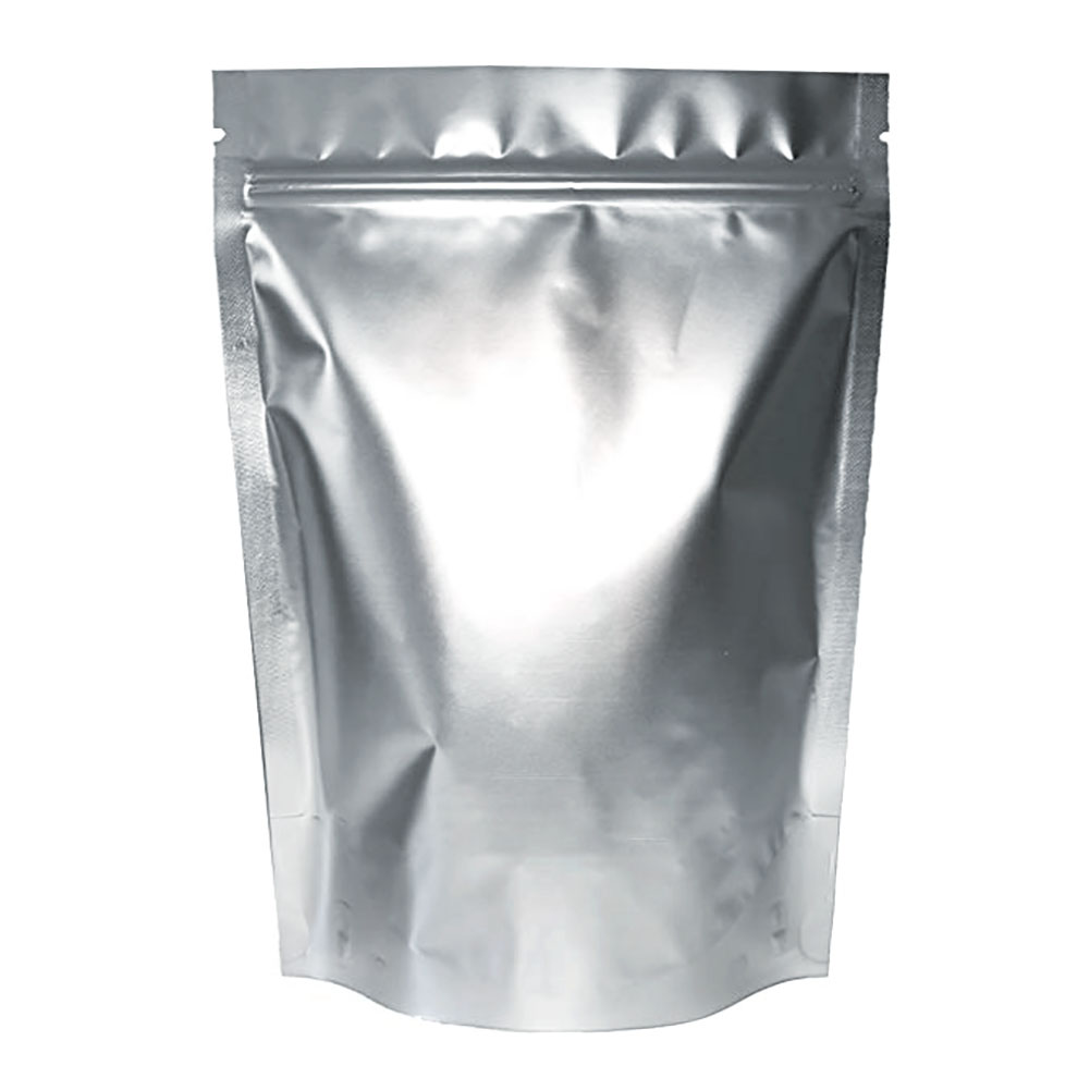 """Resealable Ziplock Bag 6/"""" x 9/"""" x 3/"""" 25 Silver//Clear Stand Up Pouches 8oz"""