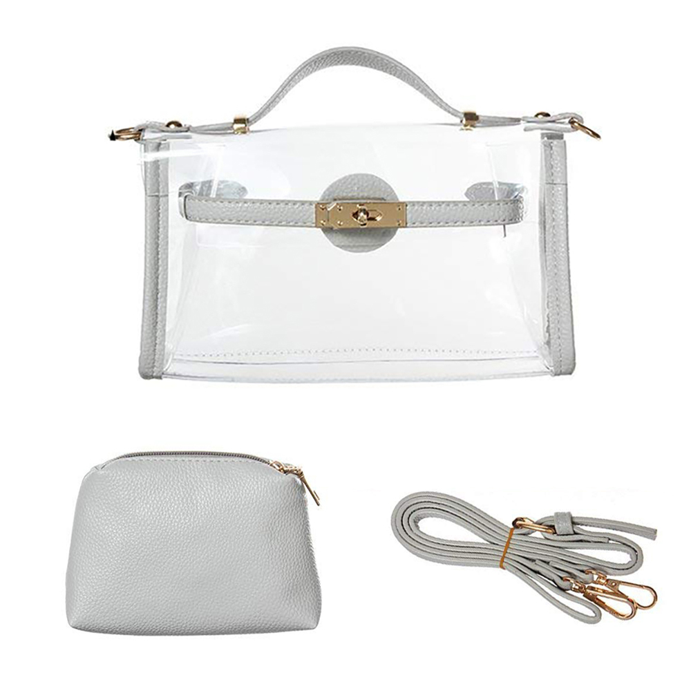 6554cc322d7a Opentip.com  Opromo Transparent Handbag Crossbody-Bag Strap Chain Shoulder  Messenger Bag