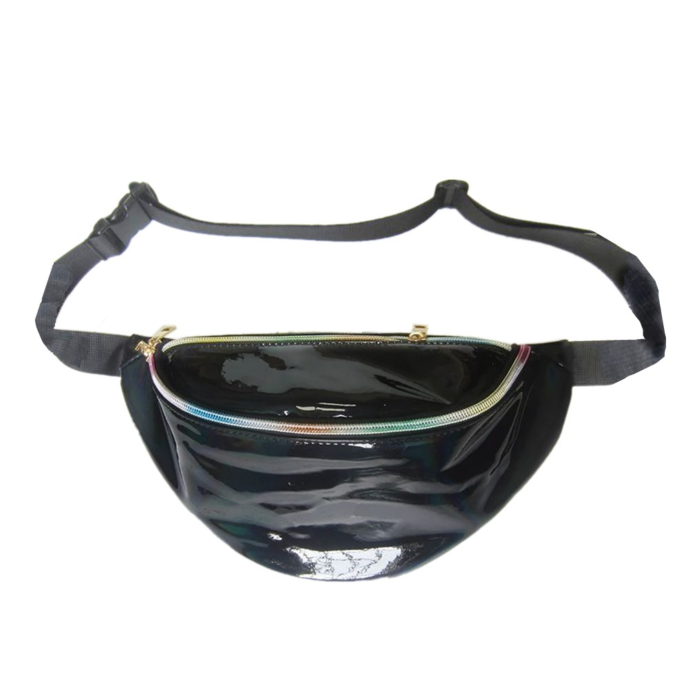 abda6d4ae2 Opentip.com  GOGO Shiny Holographic Fanny Pack with Adjustable Belt ...
