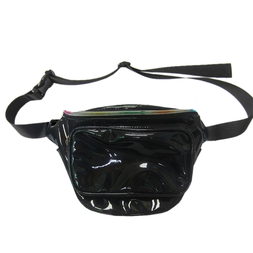 fa31d0a460eb GOGO Holographic Laser Fanny Packs Zipper Sport Pouch Travel Waist Pack Bum  Bag