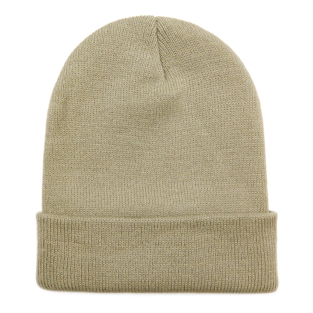 d10e86c6f09 Opentip.com  Opromo Unisex Plain Long Cuffed Beanie Fold Knit Hat ...