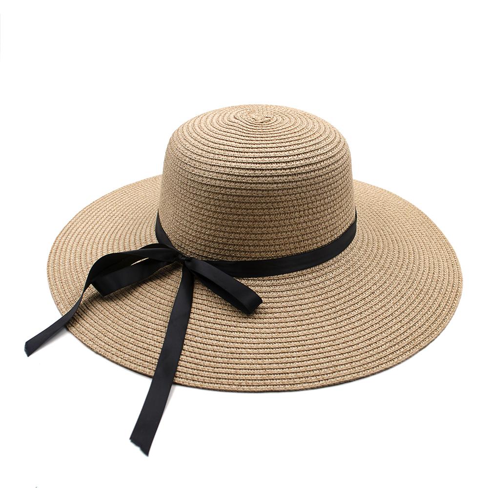511a9efa946 Opentip.com  Opromo Women s Foldable Floppy Large Wide Brim Straw Hats  Floppy Sun Beach Cap