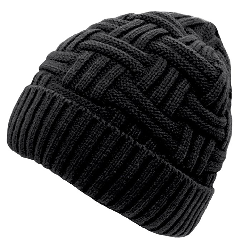 440a5756b2d Opentip.com  Opromo Mens Winter Warm Knitting Hats Wool Baggy ...