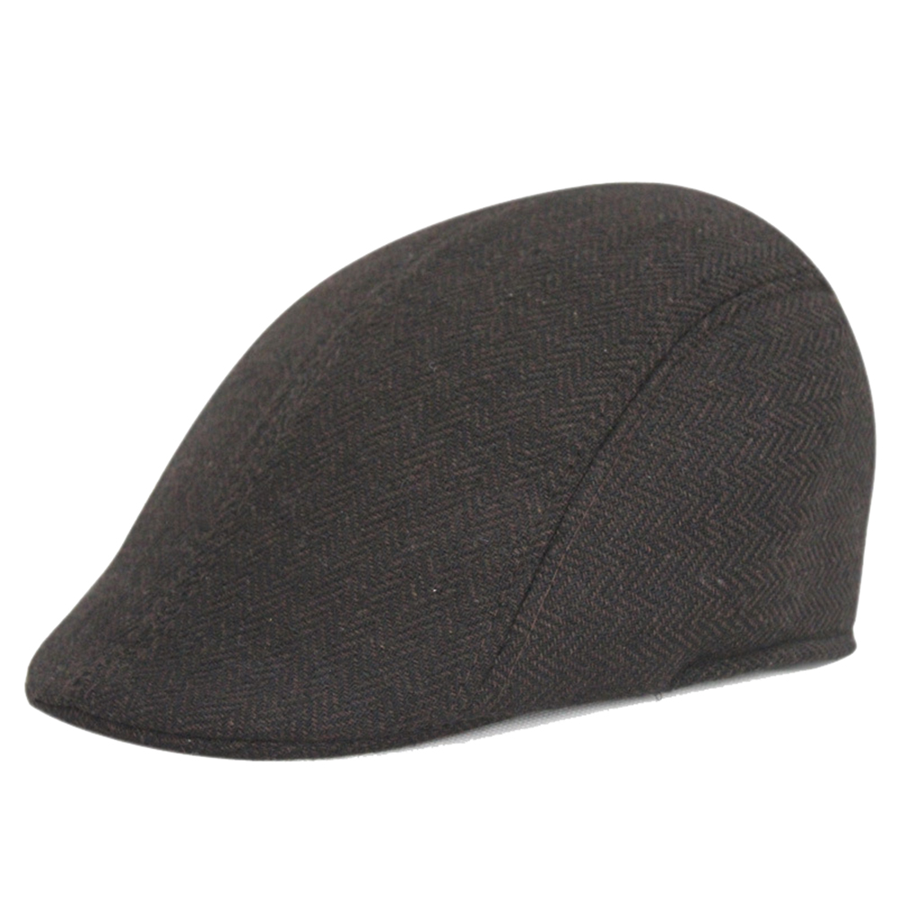 3a20d6cdd169f4 Opentip.com: Opromo Men's Classic Tweed Wool Blend Newsboy Ivy Cabbie  Driving Duckbill Hat