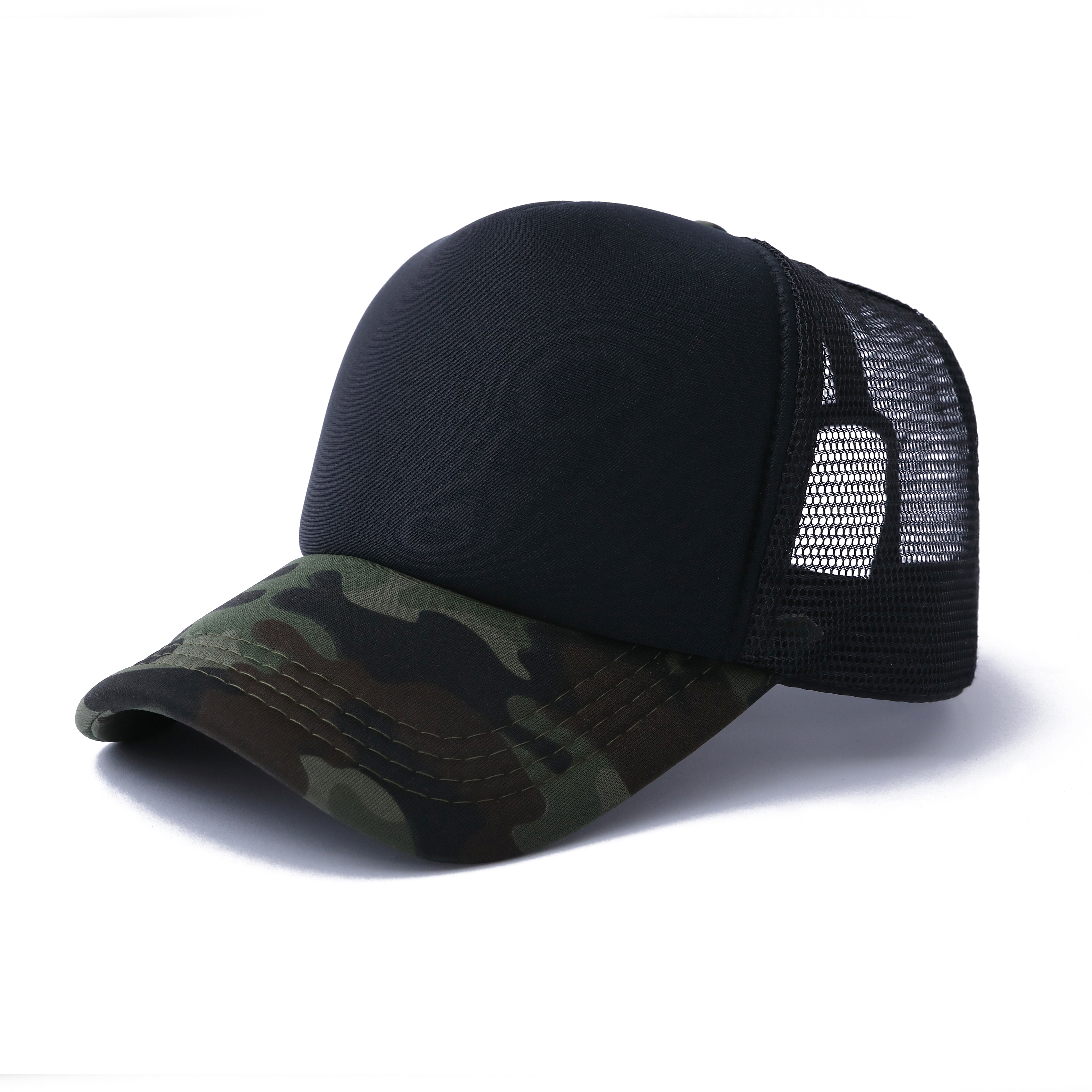 923d51df2e016 Opentip.com  Opromo Camo Curve Bill Mesh Back Summer Trucker Cap Adjustable  Snapback Hat