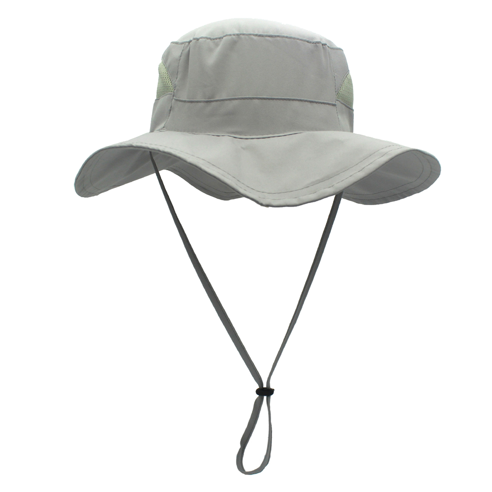 8a937a7161a899 Opentip.com: Opromo Outdoor Sportwear Quick-dry Boonie Sun Protection Bucket  Hat Fishing Cap