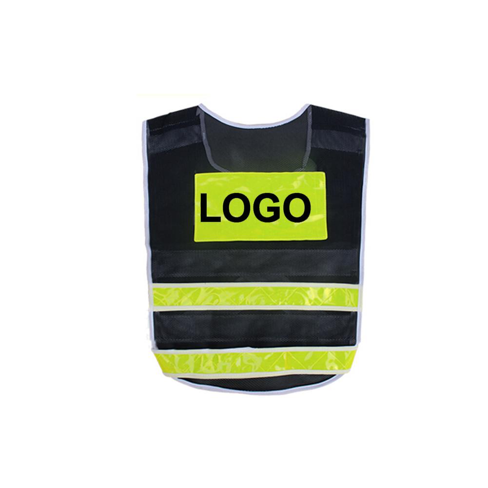 GOGO Custom Hi-Vis Safety Vest Black