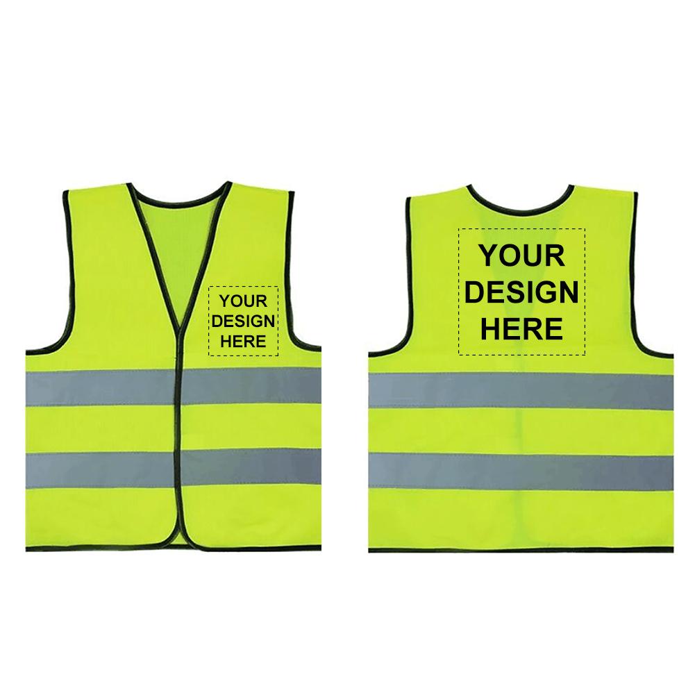 GOGO 10 Pack Child Printed Customized Reflective Safety Vest