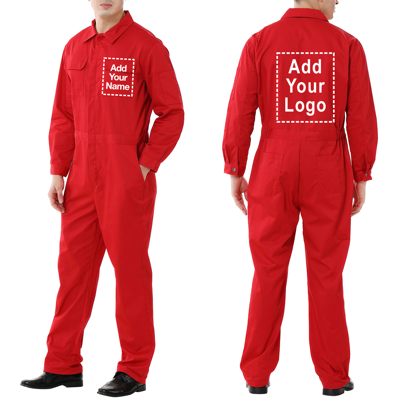 TOPTIE Custom Coverall Men's Action Back Coverall