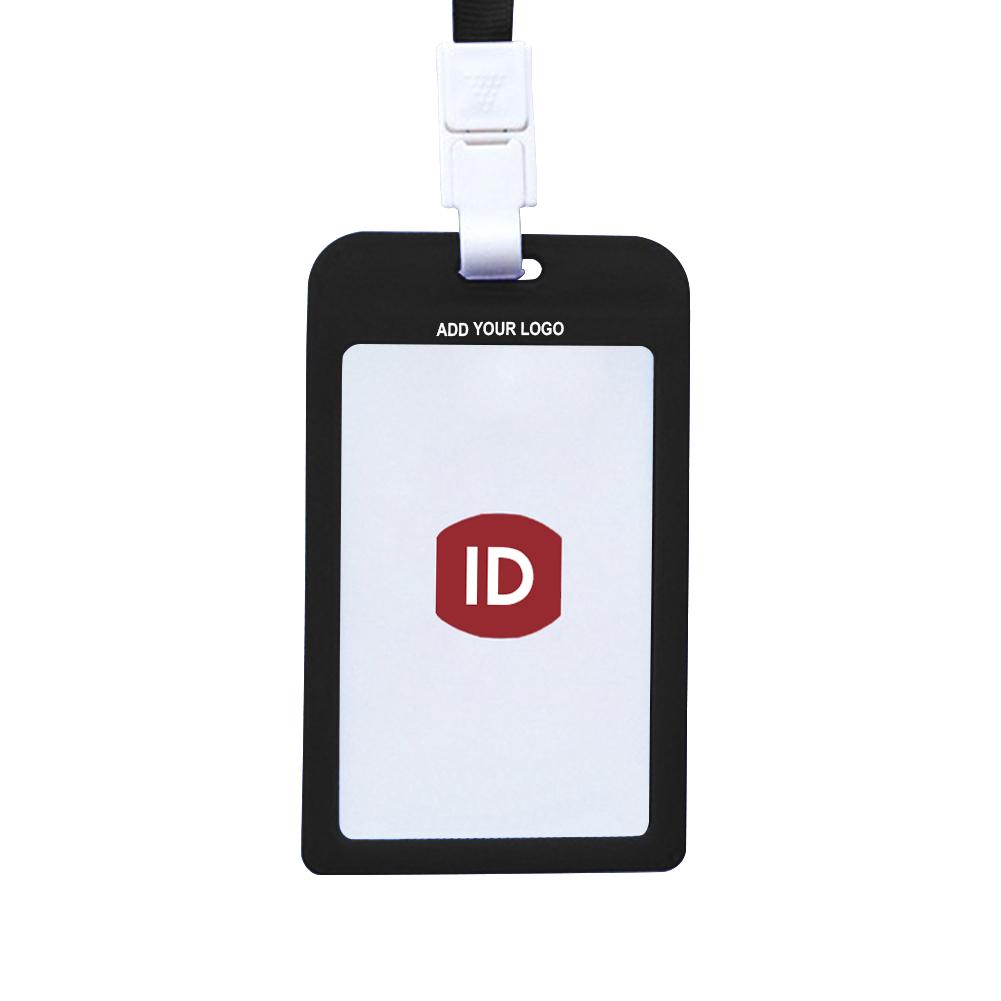 2816f35261039 Opentip.com  GOGO Custom Vertical Plastic ID Badge Holder Card ...