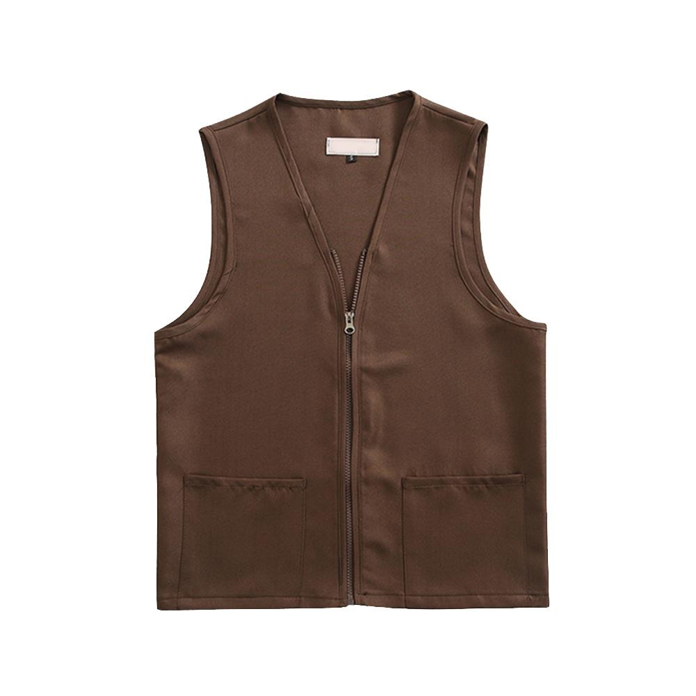Adult Polyester Zipper Volunteer Activity Vest