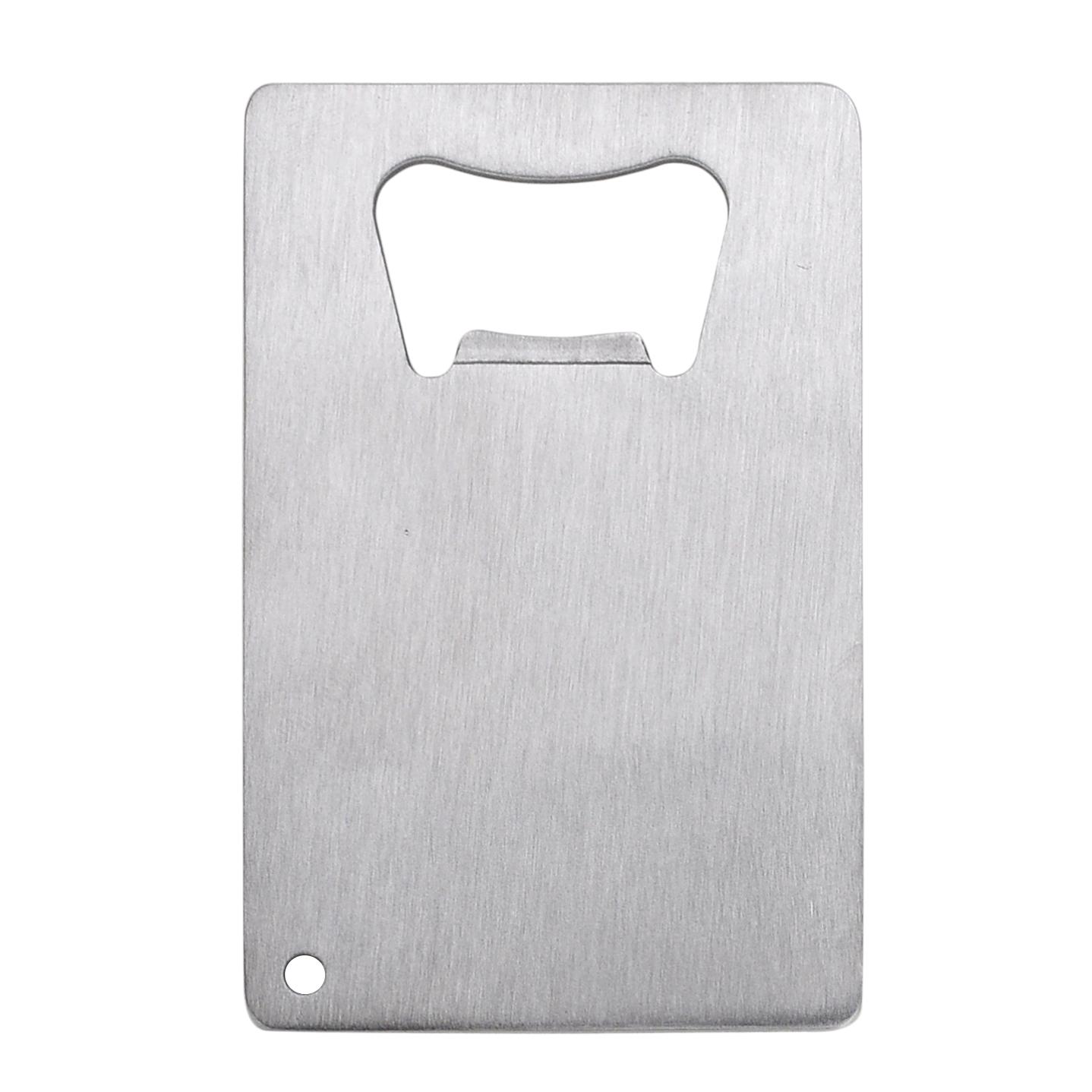 Engraved Stainless Steel Wedding Date Wallet Card Bottle Opener