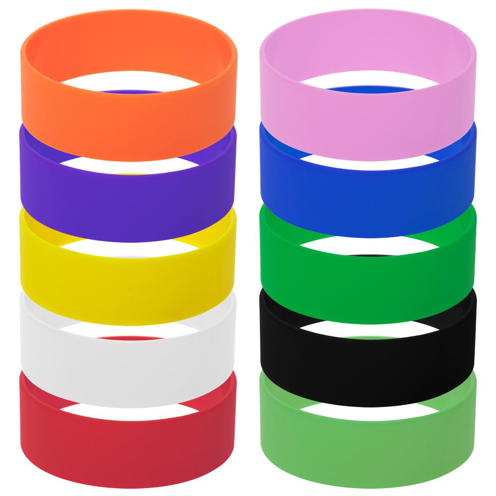 24 PK Mix Color Silicone Rubber Bracelet Rubber Wristband Party Accessories US