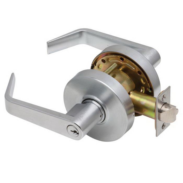 2 3//4 Backset 2 3//4 Backset Allegion Satin Chrome Dexter Commercial Hardware C1000-CSEC-R-626-KDC Grade1 Classroom Security Cylindrical Lock with Regular Trim