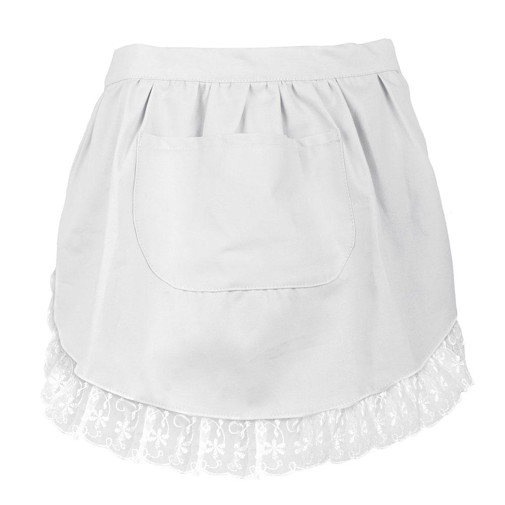 Aspire Women Vintage White Half Apron Outfit Half Dress Waist Apron Maid Costume