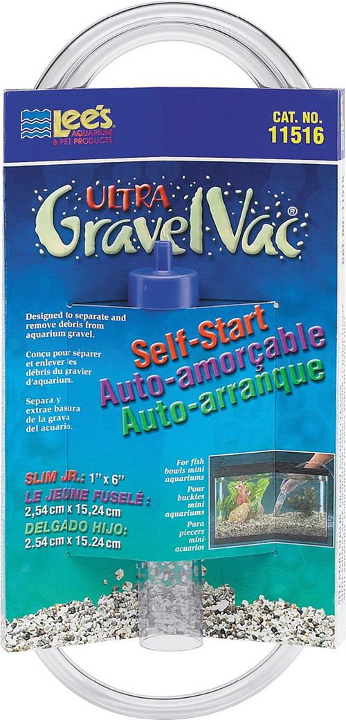 Lee S Aquarium & Pet Slim Jr. Gravel Vacuum Cleaner - 6 Inch